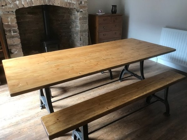Industrial Table & Benches