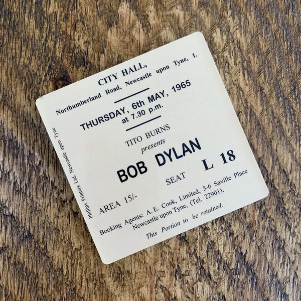 Bob Dylan city hall coaster