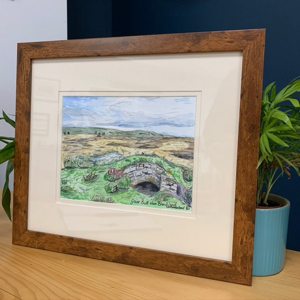 'Grouse butts above blanchland' original - framed